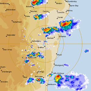 Rotating Base and Hook Echo Grafton to Yamba supercell