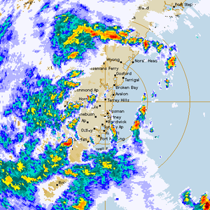 Heavy Rainfall Event for Sydney 24th March 2014