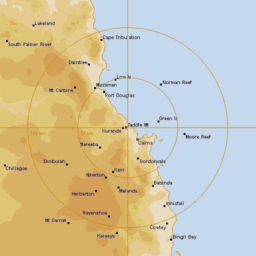 BoM Cairns Radar Loop - Rain Rate - IDR193