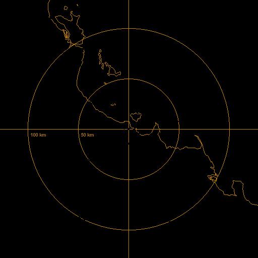 BoM Townsville Airport Radar Loop - Rain Rate - IDR203