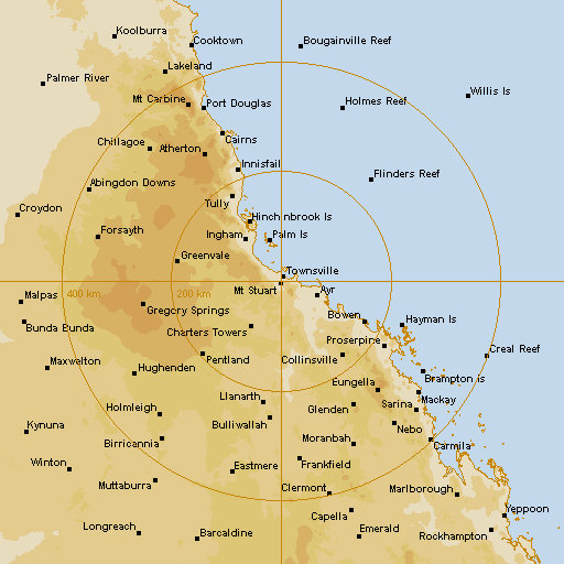 BoM Townsville Radar Loop - Rain Rate - IDR211