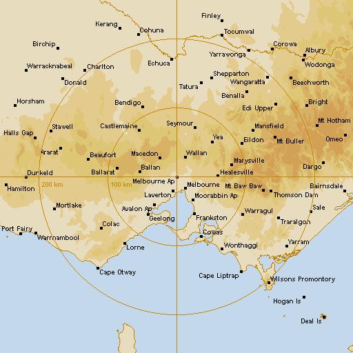 BoM Melbourne AP Radar Loop - Rain Rate - IDR512