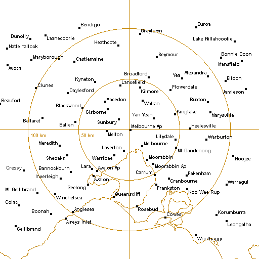 BoM Melbourne AP Radar Loop - Rain Rate - IDR513