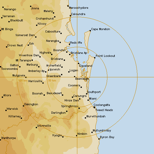 Brisbane Weather Map BoM Brisbane Radar Loop   Rain Rate   IDR663